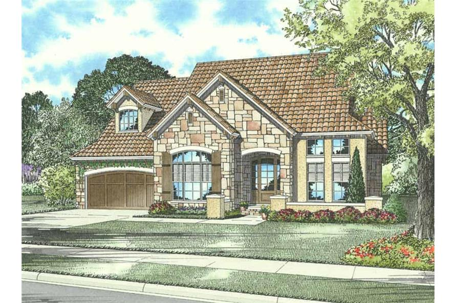 1-Bedroom, 2721 Sq Ft Country Home Plan - 153-1139 - Main Exterior