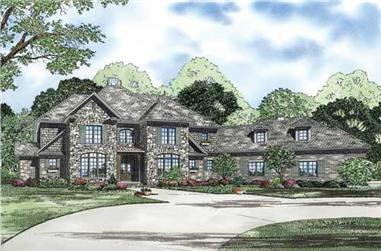 This is an artist's rendering of these Luxury House Plans.