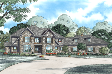 4-Bedroom, 4378 Sq Ft European Home Plan - 153-1140 - Main Exterior