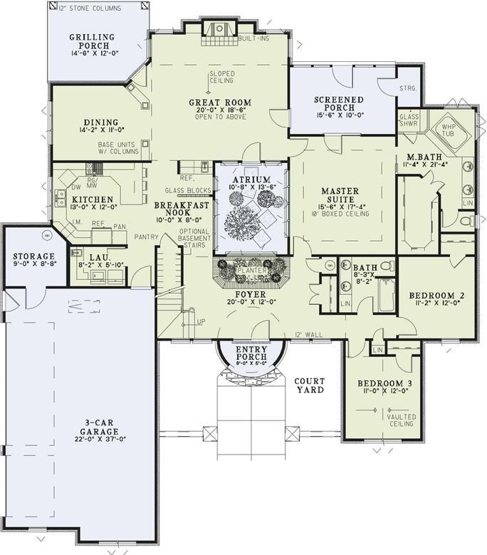Tuscan Floor Plan 4 Bedrms 3 Baths 2609 Sq Ft 153 1141
