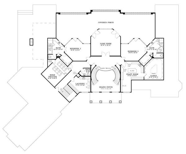 Floor Plan Second Story for this set of house plans.