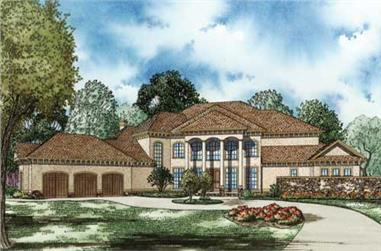 4-Bedroom, 8484 Sq Ft Luxury House Plan - 153-1143 - Front Exterior