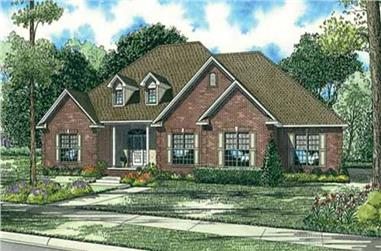 4-Bedroom, 3036 Sq Ft Country House Plan - 153-1144 - Front Exterior