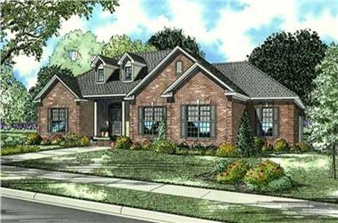 4-Bedroom, 2424 Sq Ft Country House Plan - 153-1145 - Front Exterior