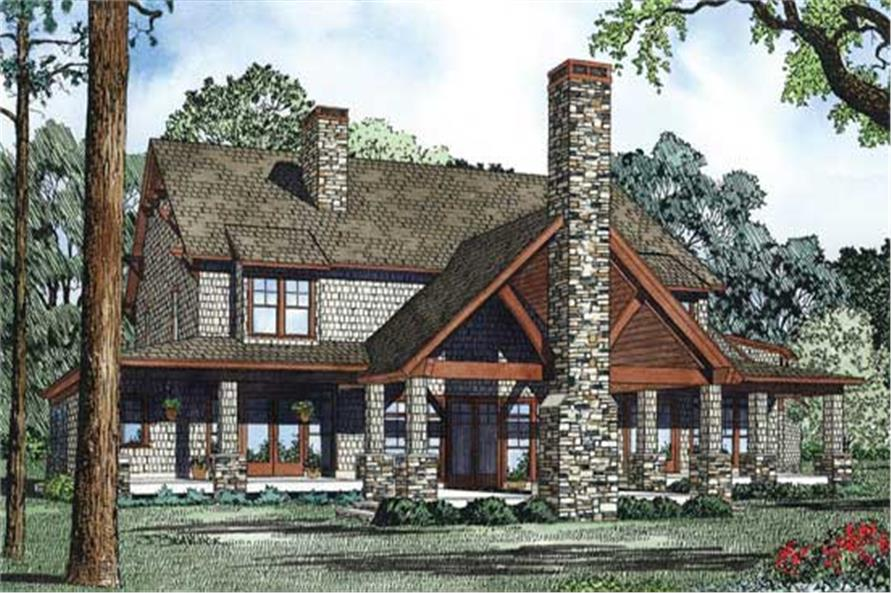 Home Plan Rear Elevation of this 6-Bedroom,4623 Sq Ft Plan -153-1146