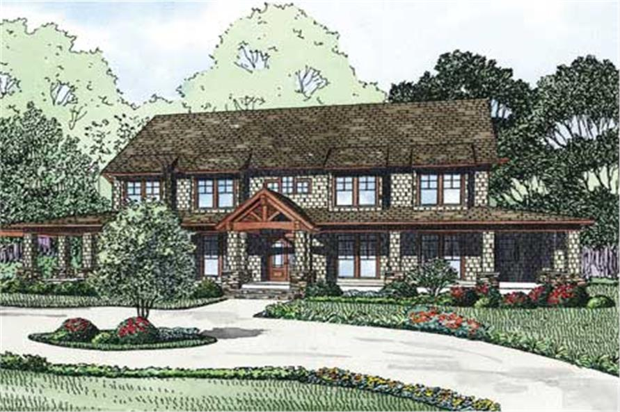 6-Bedroom, 4623 Sq Ft Country House Plan - 153-1146 - Front Exterior