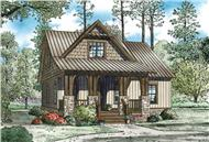 This is a nice rendering showing the front elevation of these Craftsman House Plans.