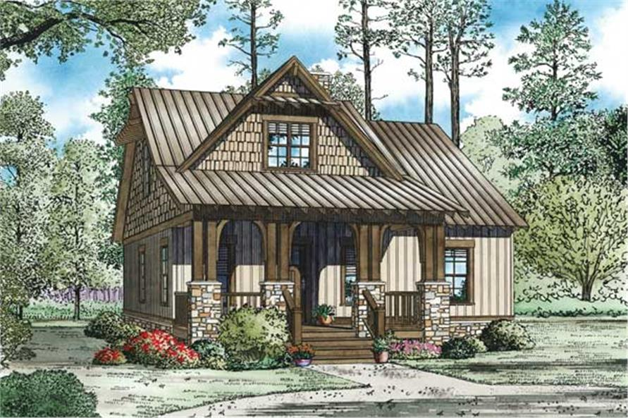 3-Bedroom, 1379 Sq Ft Craftsman Home - Plan #153-1147 - Main Exterior