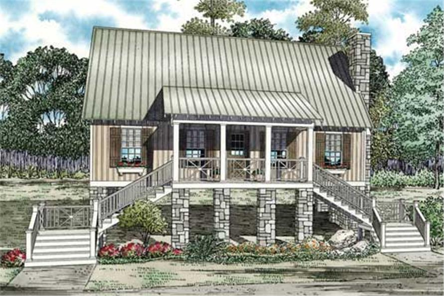 3-Bedroom, 1374 Sq Ft Country Home Plan - 153-1148 - Main Exterior