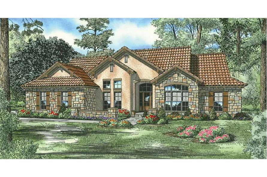 4-Bedroom, 2075 Sq Ft Country House Plan - 153-1149 - Front Exterior