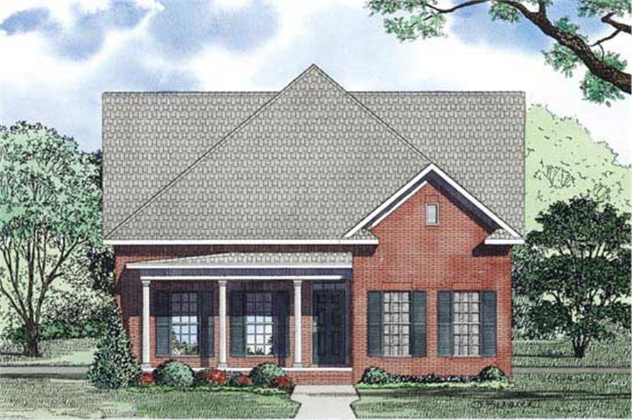 Home Plan Front Elevation of this 3-Bedroom,2173 Sq Ft Plan -153-1150