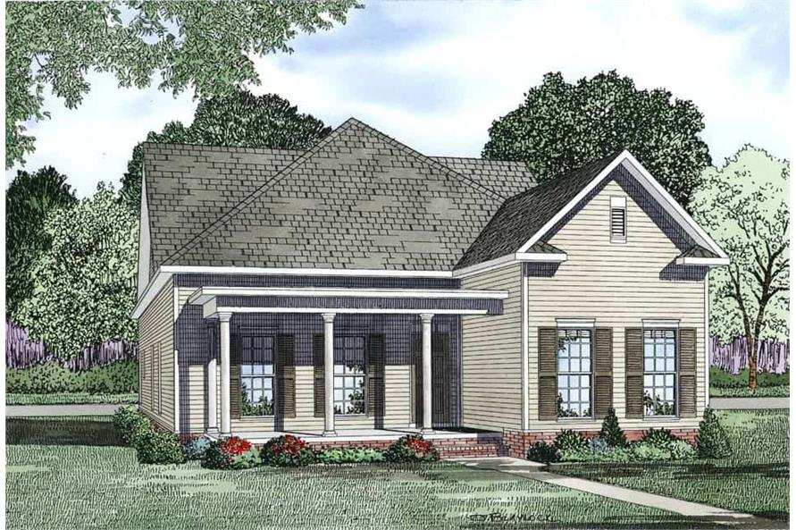 3-Bedroom, 2173 Sq Ft Bungalow Home Plan - 153-1150 - Main Exterior