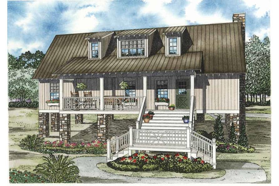 4-Bedroom, 1970 Sq Ft Low Country Home Plan - 153-1151 - Main Exterior