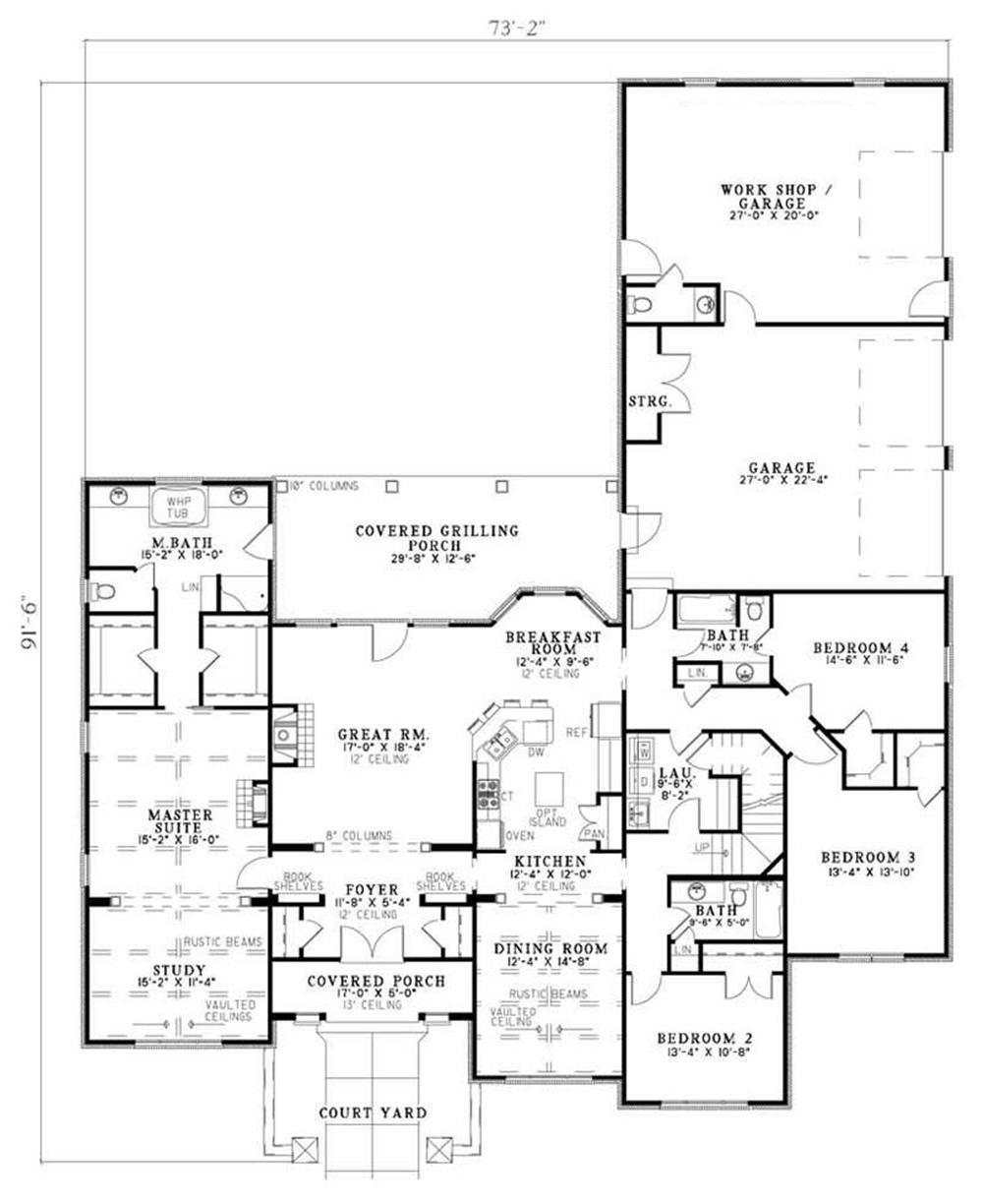 House Plan NDG-1142 Main Floor Plan