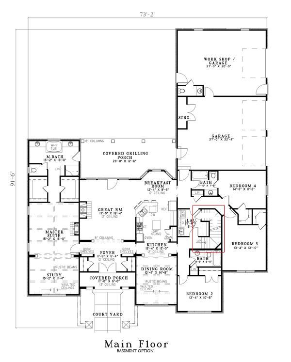 153-1153: Floor Plan Main Level