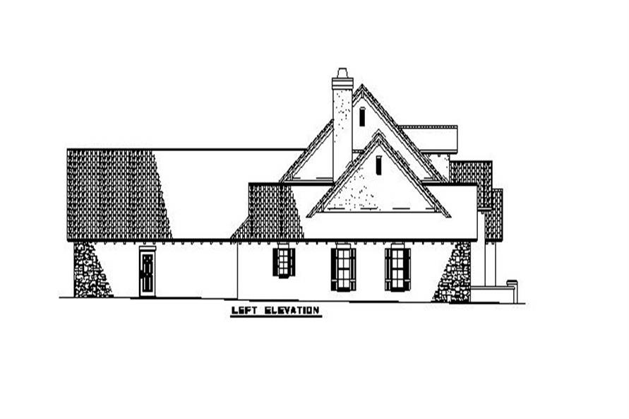 Home Plan Left Elevation of this 4-Bedroom,2788 Sq Ft Plan -153-1153