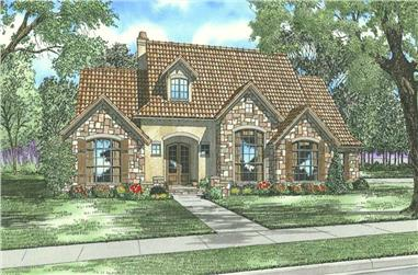 4-Bedroom, 2788 Sq Ft Tuscan House Plan - 153-1153 - Front Exterior