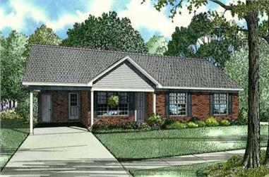 3-Bedroom, 1166 Sq Ft Country House Plan - 153-1154 - Front Exterior