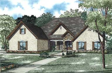 4-Bedroom, 3456 Sq Ft Country Home Plan - 153-1155 - Main Exterior