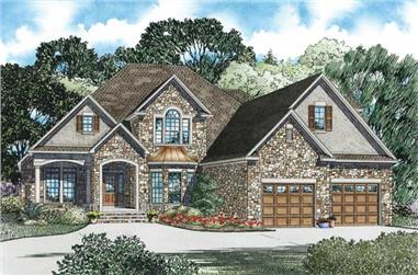 3-Bedroom, 3202 Sq Ft Craftsman House Plan - 153-1156 - Front Exterior