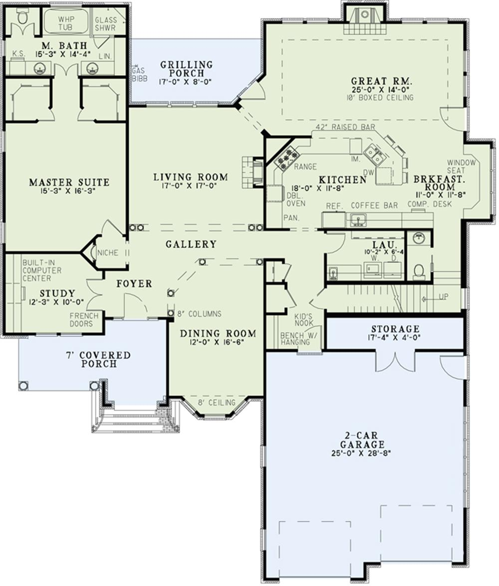 153-1156: Floor Plan First Story