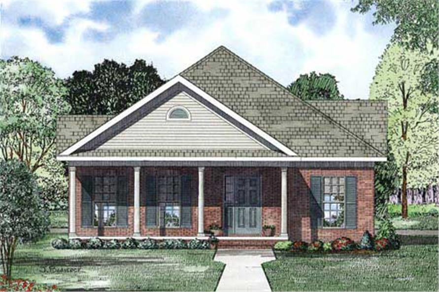 Home Plan Front Elevation of this 2-Bedroom,1593 Sq Ft Plan -153-1157