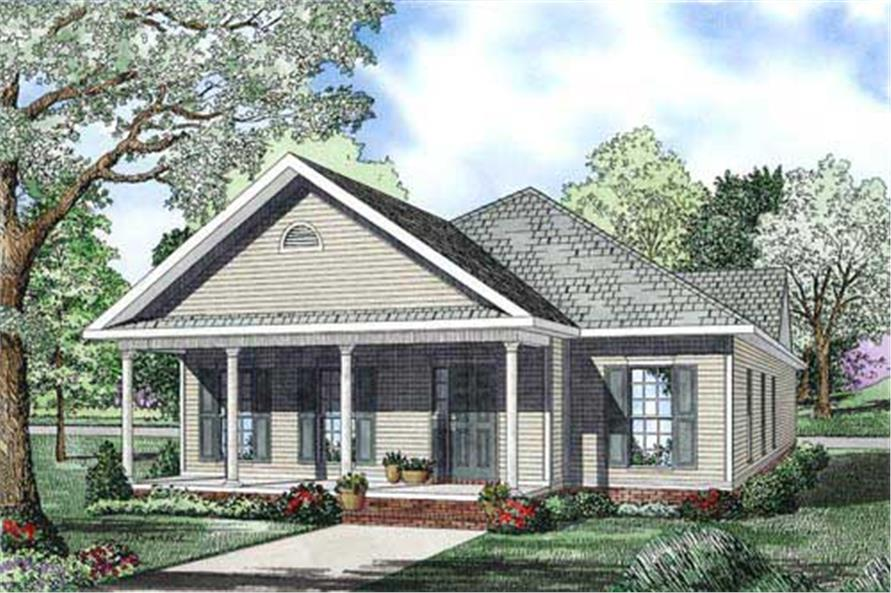 2-Bedroom, 1593 Sq Ft Country House Plan - 153-1157 - Front Exterior