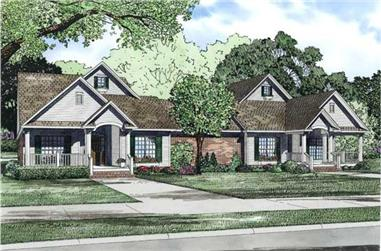 3-Bedroom, 2226 Sq Ft Multi-Unit Home Plan - 153-1158 - Main Exterior