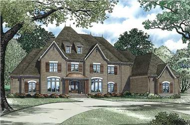 4-Bedroom, 6571 Sq Ft Country House Plan - 153-1159 - Front Exterior