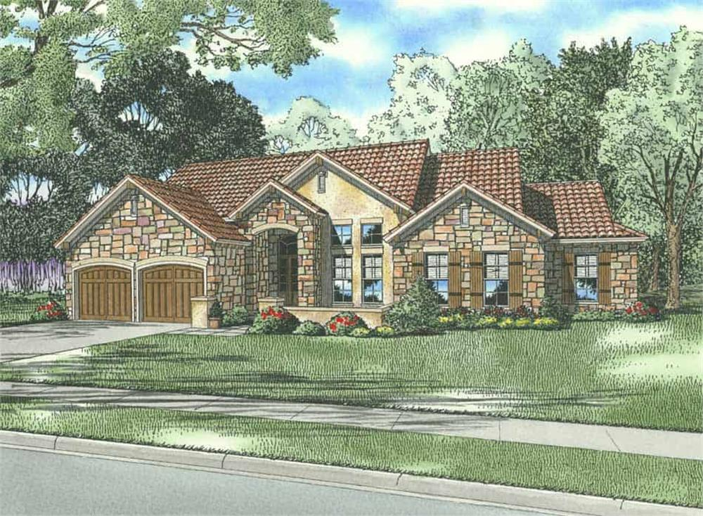 Front elevation of Country home (ThePlanCollection: House Plan #153-1160)