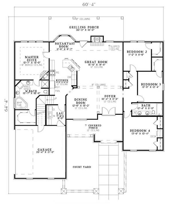 House Plan NDG-1137 Main Floor Plan
