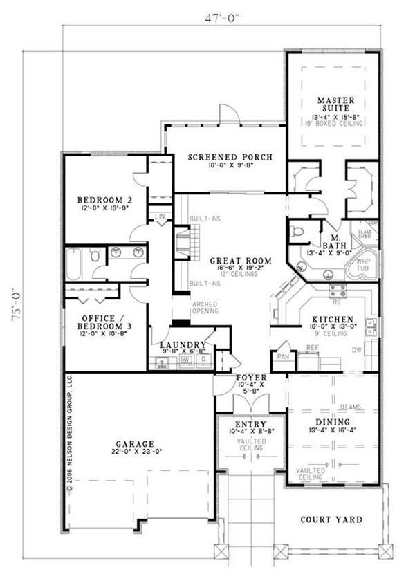 House Plan NDG-1133 Main Floor Plan