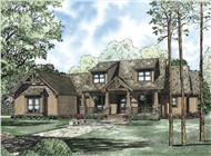 This is the front elevation of these Huge Craftsman Homeplans.