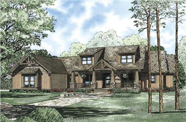 7-Bedroom, 4693 Sq Ft Craftsman Home Plan - 153-1166 - Main Exterior