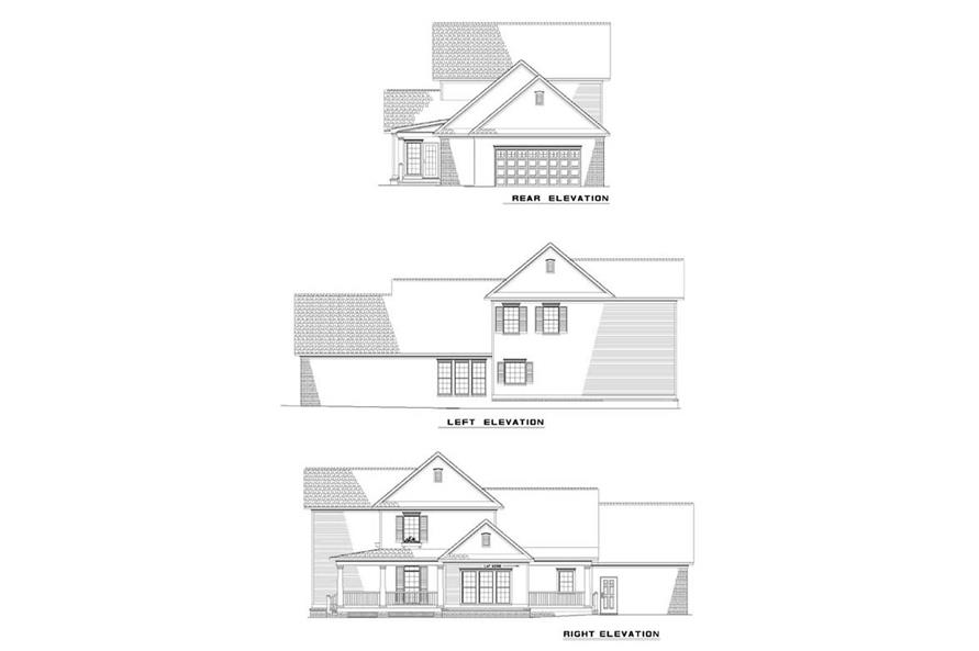 EXTERIOR ELEVATIONS of this 4-Bedroom,2260 Sq Ft Plan -2260
