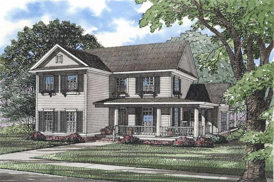4-Bedroom, 2260 Sq Ft Southern Home Plan - 153-1168 - Main Exterior