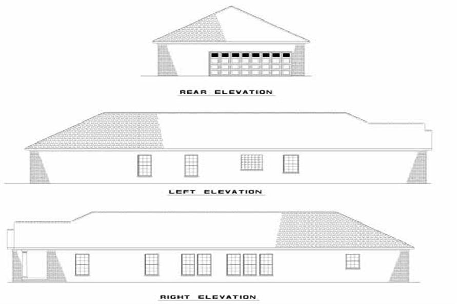 EXTERIOR ELEVATIONS of this 3-Bedroom,1574 Sq Ft Plan -1574