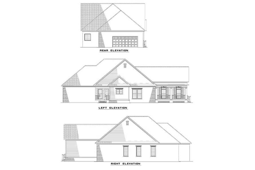 EXTERIOR ELEVATIONS of this 3-Bedroom,1965 Sq Ft Plan -1965