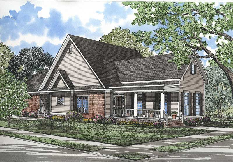 Southern Traditional House Plans Home Design ndg 353 3697