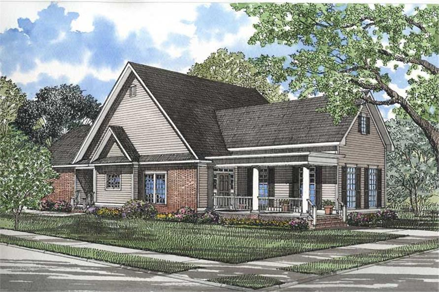 3-Bedroom, 1965 Sq Ft Southern Home Plan - 153-1171 - Main Exterior