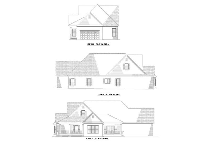 EXTERIOR ELEVATIONS of this 3-Bedroom,1927 Sq Ft Plan -1927