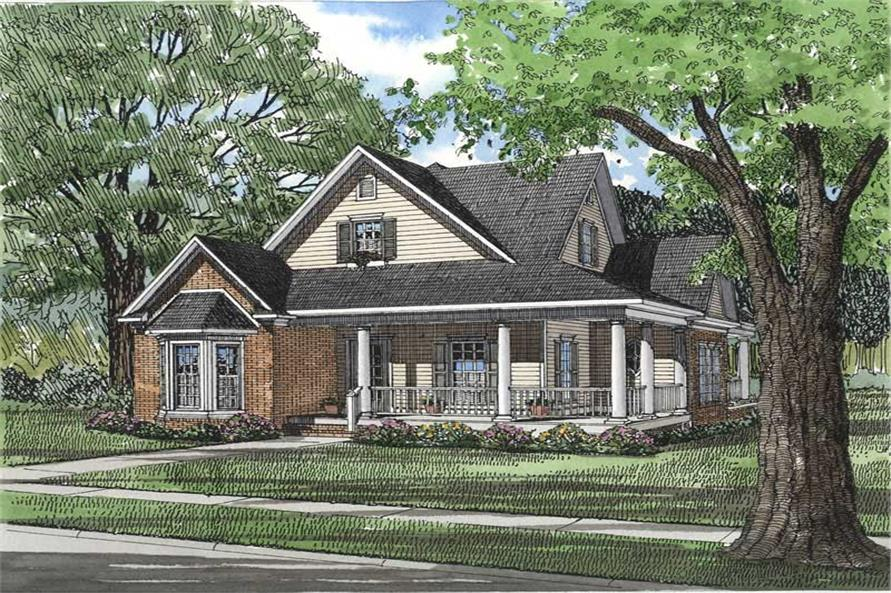 3-Bedroom, 1927 Sq Ft Southern Home Plan - 153-1175 - Main Exterior
