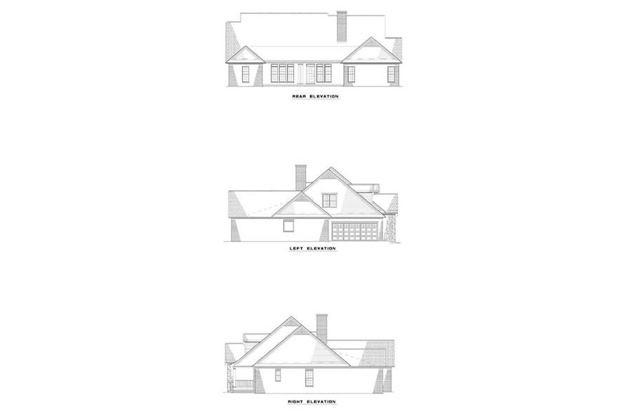 EXTERIOR ELEVATIONS of this 4-Bedroom,2624 Sq Ft Plan -2624