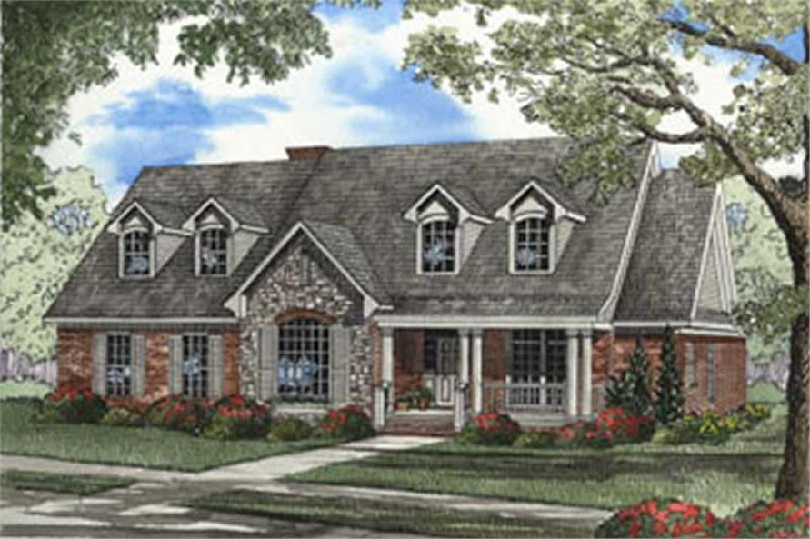 4-Bedroom, 2624 Sq Ft Country House Plan - 153-1176 - Front Exterior