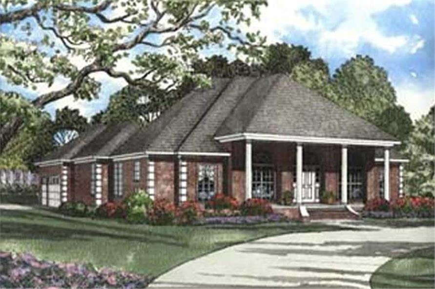 4-Bedroom, 2555 Sq Ft French Home Plan - 153-1179 - Main Exterior