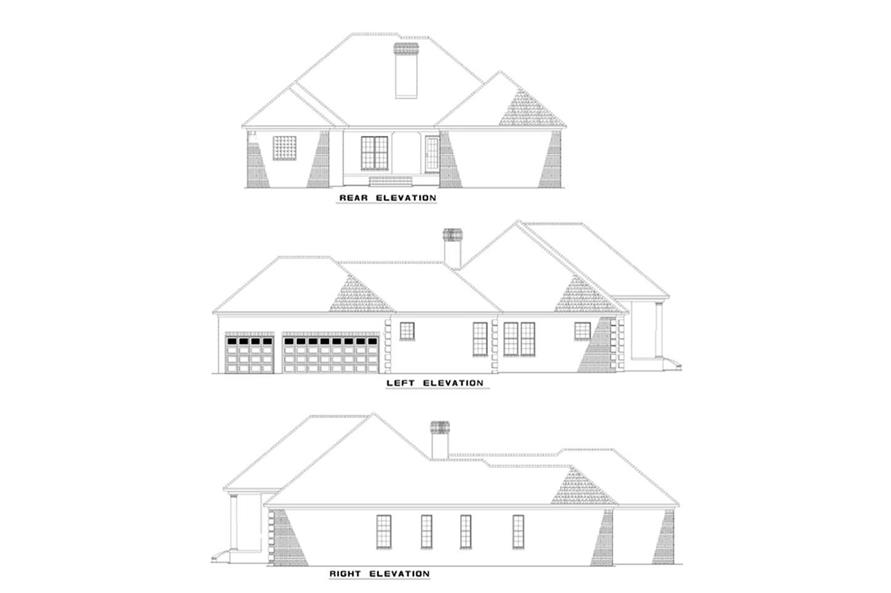 Home Plan Rear Elevation of this 4-Bedroom,2555 Sq Ft Plan -153-1179