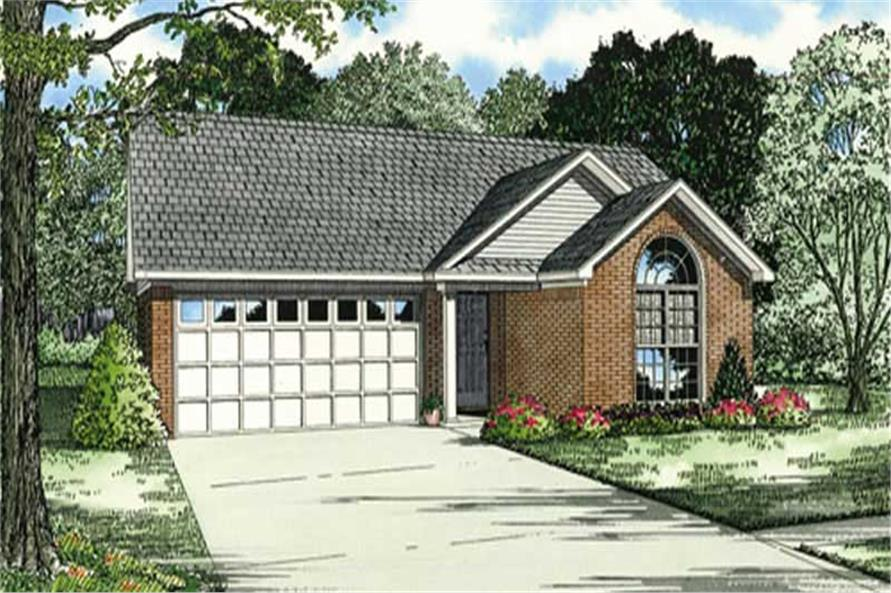 3-Bedroom, 1344 Sq Ft Small House Plans - 153-1180 - Main Exterior
