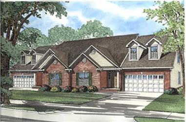 3-Bedroom, 2252 Sq Ft Per Unit Duplex Plan - 153-1182 - Front Exterior
