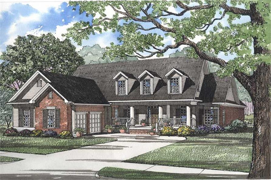 4-Bedroom, 2777 Sq Ft Southern Home Plan - 153-1183 - Main Exterior