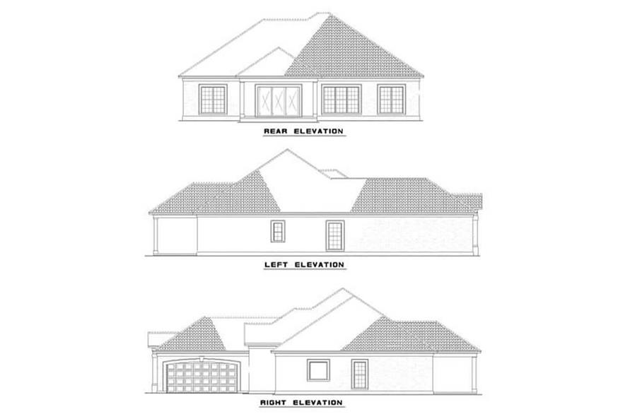 Home Plan Elevations of this 3-Bedroom,2056 Sq Ft Plan -153-1184